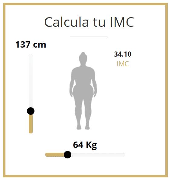 calculadora Diferencia entre personas con sobrepeso y obesidad