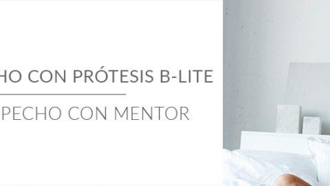 Aumento de pecho con prótesis B-Lite y aumento de pecho con Mentor